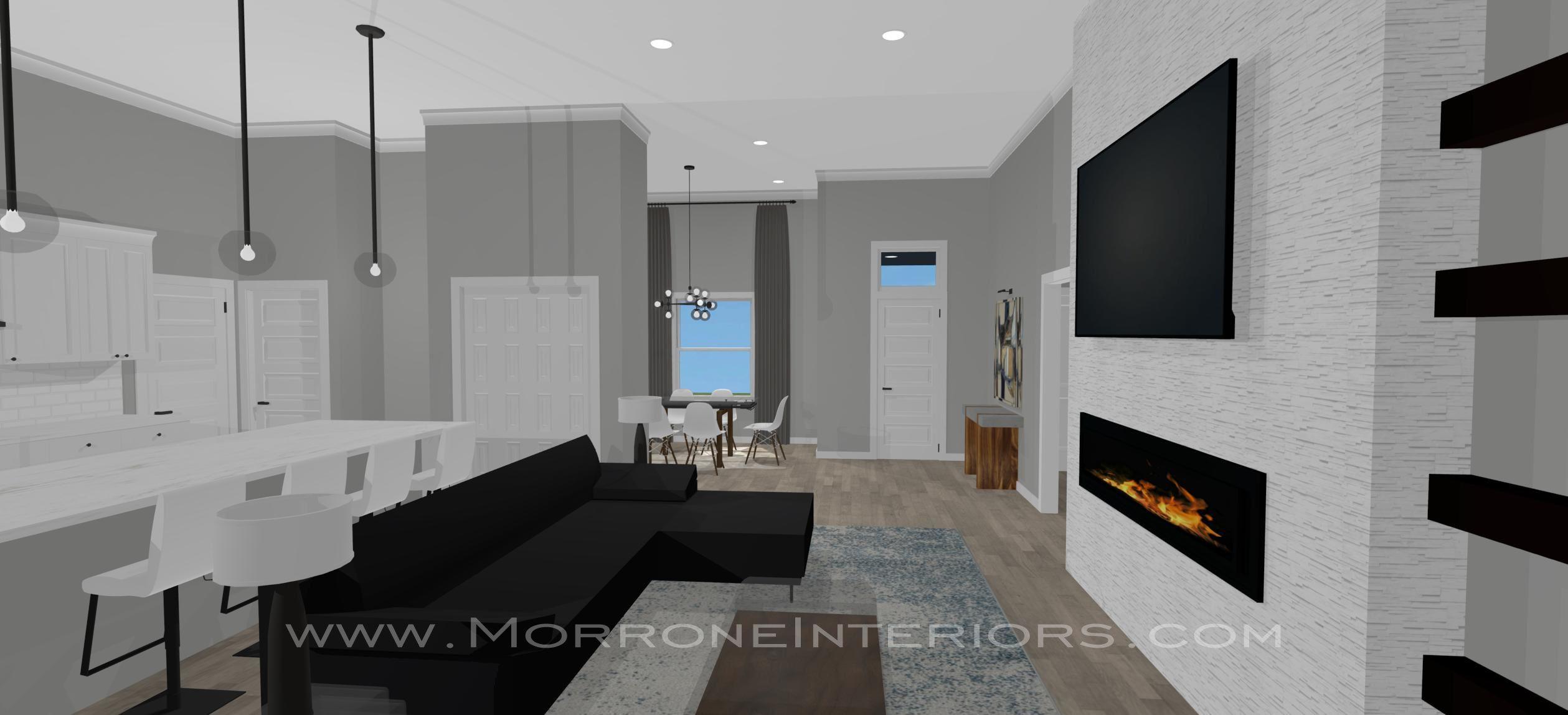 Full Home Design   3D Drawings   Family Room