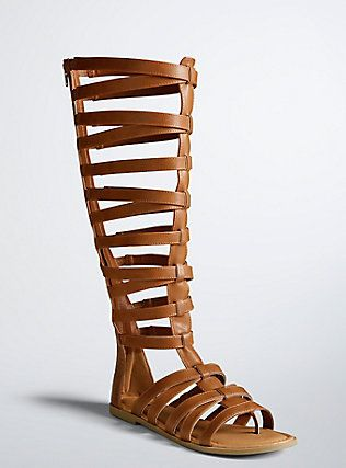 336c72e2851bb Tall Gladiator Cage Sandals (Wide Width   Wide Calf)