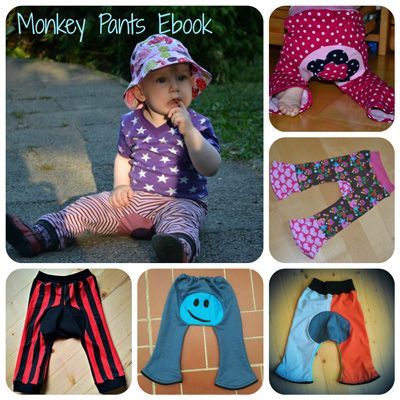 Freebook Monkey Pants - süße Hose mit Einsatz am Po | Kinderhosen ...