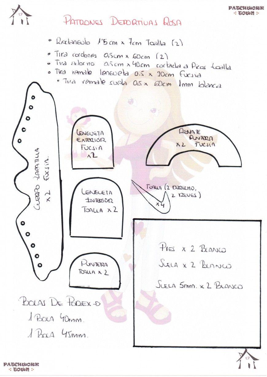 MINI TUTO DEPORTIVAS DE GOMA EVA ROSITAS | фоамиран | Pinterest ...