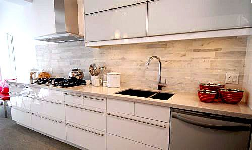 Ikea Abstrakt White Modern Kitchen Cabinets   I Wonder If I Can Get My  Cabinets Refinished