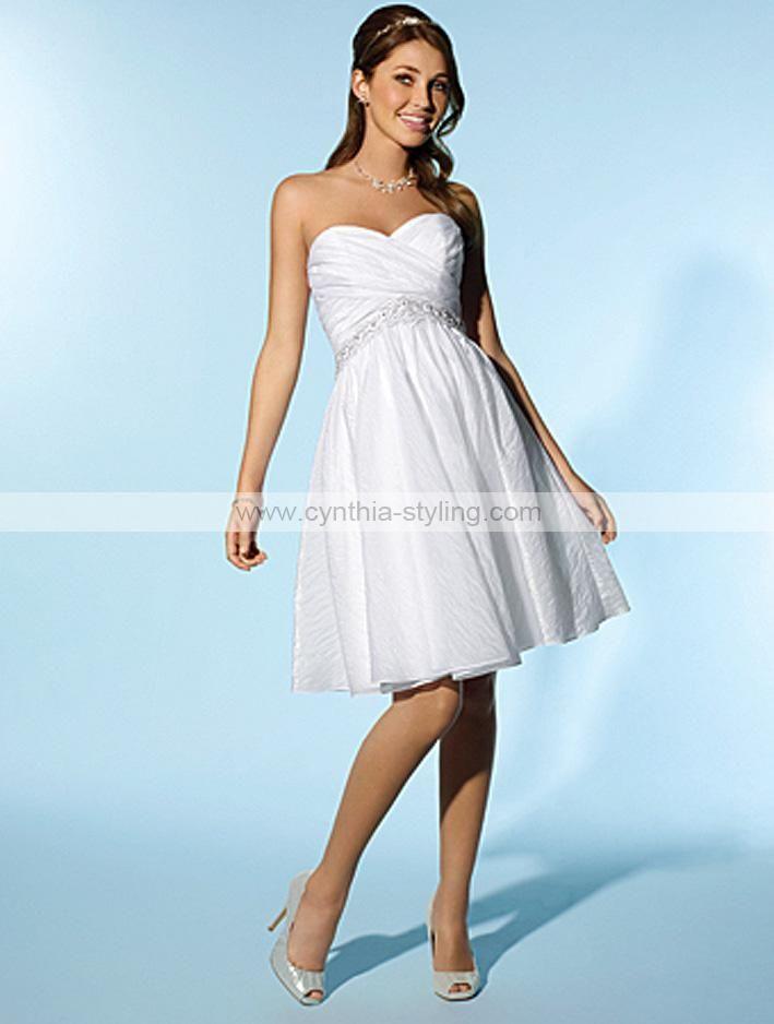 short maternity wedding dresses | Lovely short crinkle taffeta ...