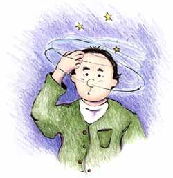 Image result for man dizzy  clipart