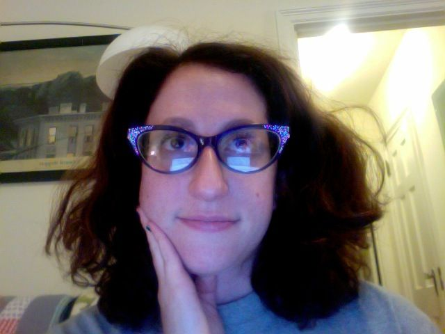 new specs - blue with sparkles