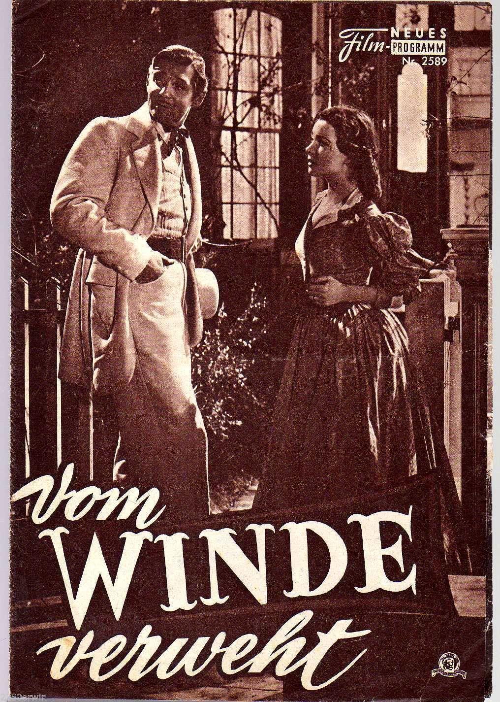 VOM WINDE VERWEHT / NFP 2589 Wien / Vivien Leigh, Clark Gable | eBay