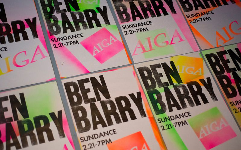 Ben Barry Sundance poster - who doesn't love #neon