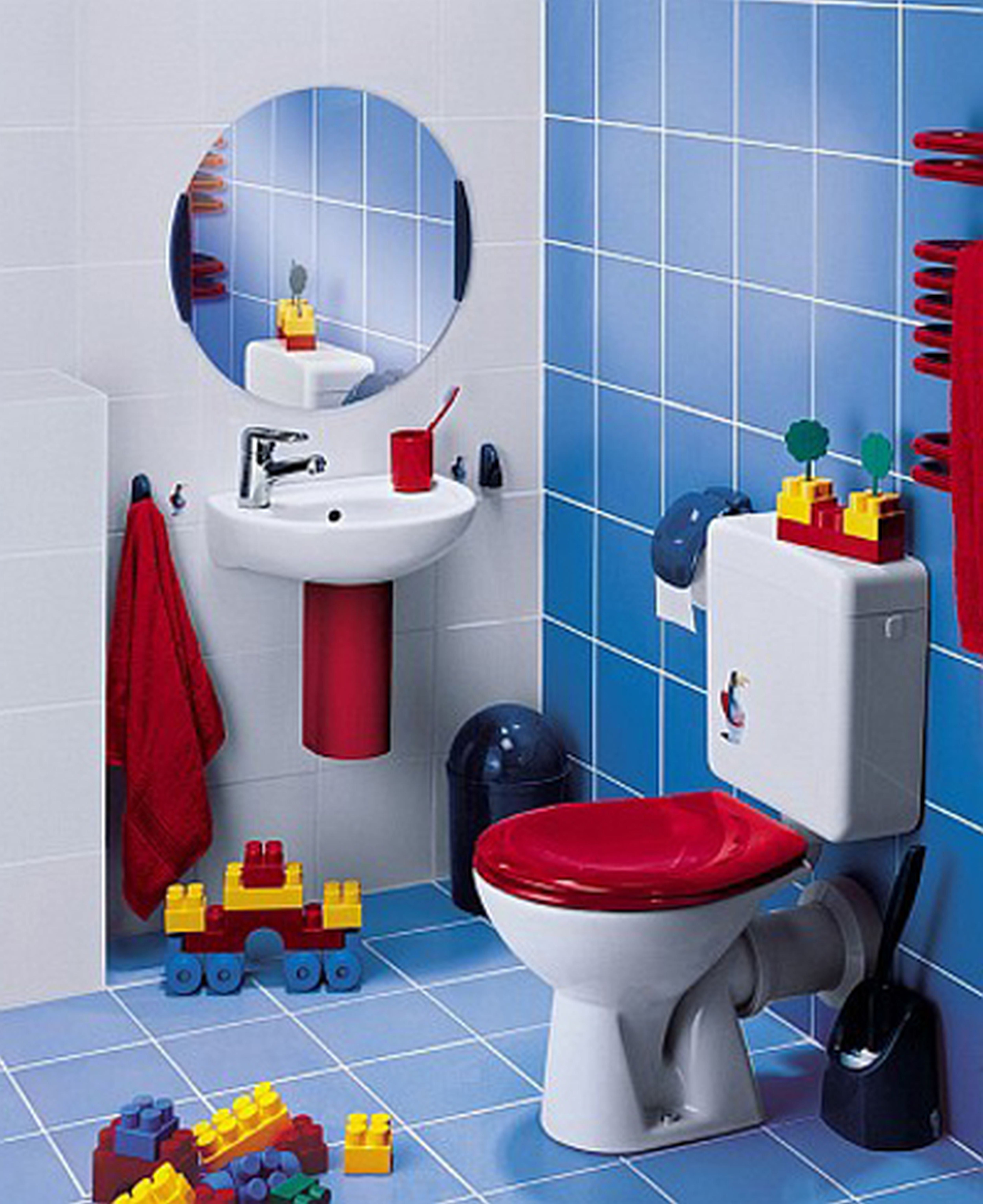 Bathroom With Wood Tile For Kids Osbdata Kids Bathrooms - Animal print bathroom decor for small bathroom ideas