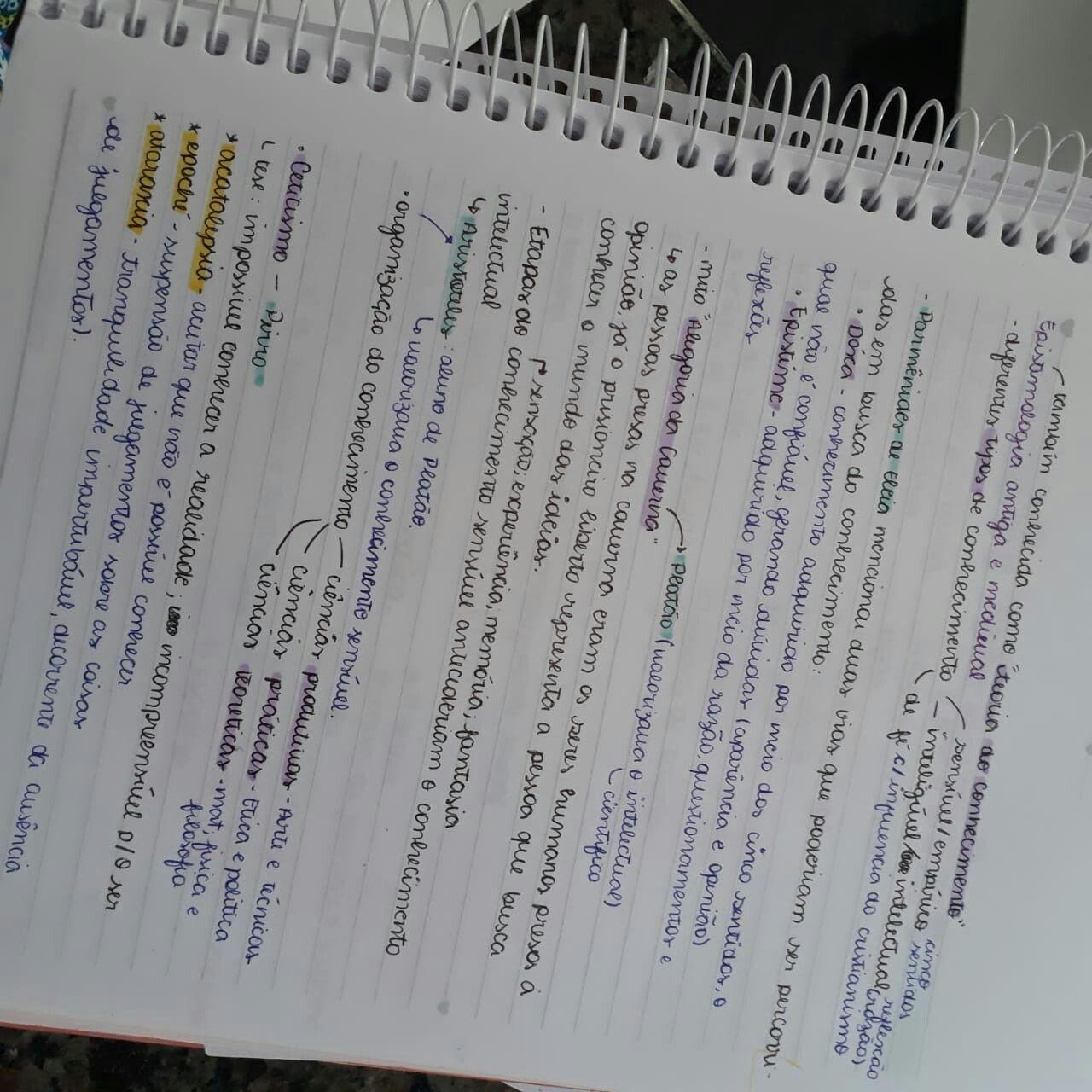 Algumas anotações de filosofia que podem ajudar na hora de