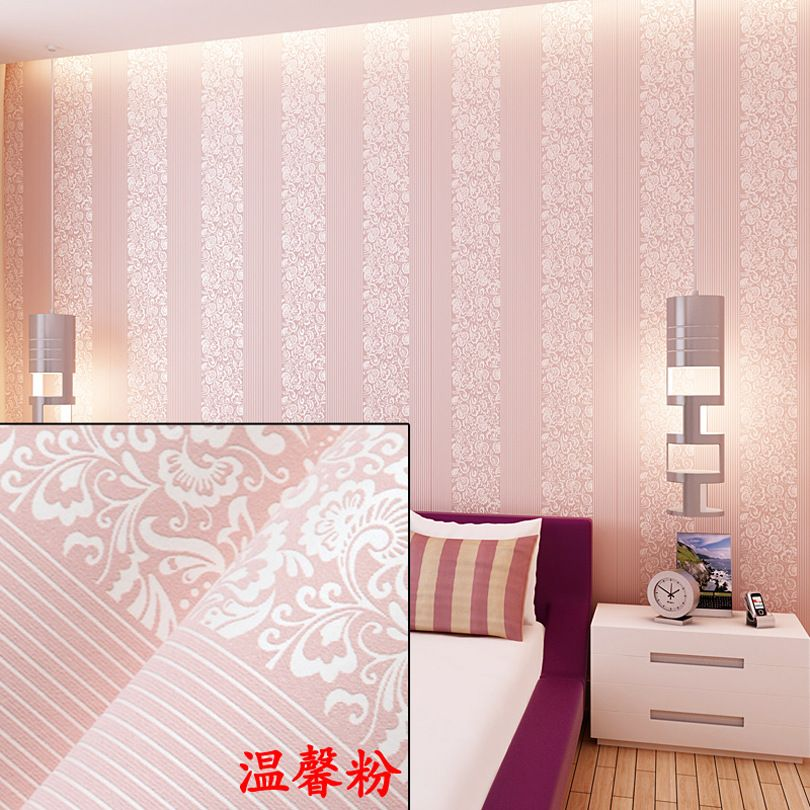 Wholesale From Sticky Wallpaper Non Woven Flocking Sitting Room Bedroom Dorm Renovation