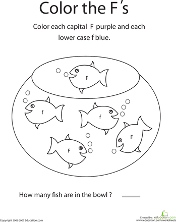 Letter F Coloring Pictures : Write the letter f worksheets