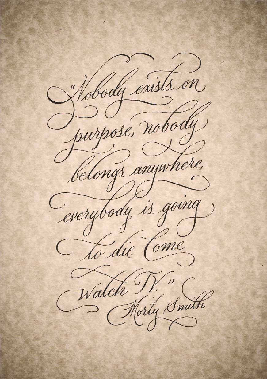 Rick Sanchez Quotes Rick And Morty Calligraphy Quotes  Calligraphy Quotes Rick And