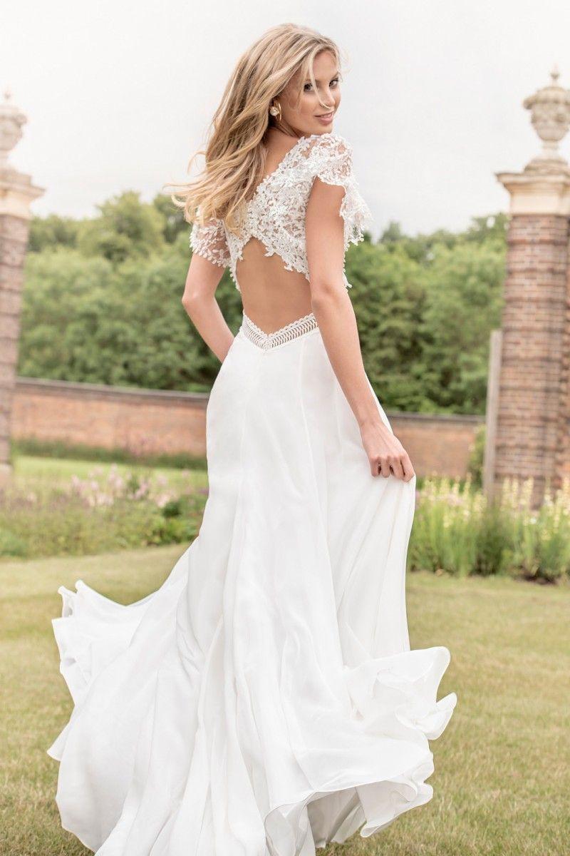 Bridal collection kelsey rose boho style wedding dress