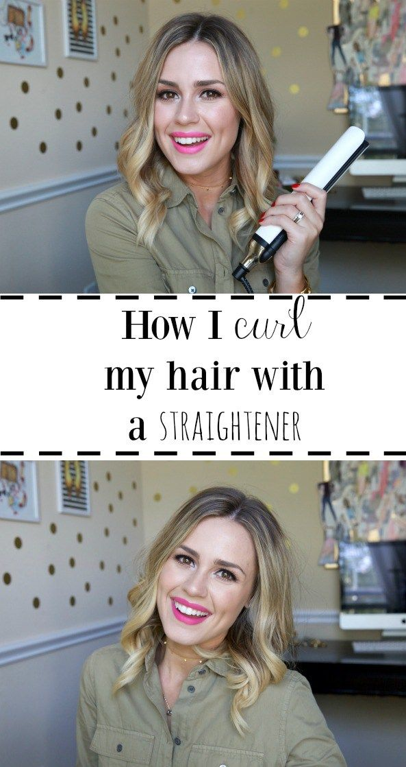 How I Curl My Hair With A Straightener Bloggers Best Fashion