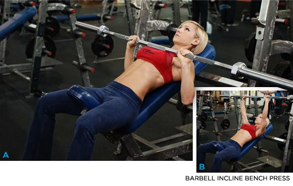 Incline Barbell Bench Press Chest Exercises Best Workout To Build The For
