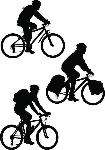 Mountain Bike Vector Art Illustration Desain Logo Sepeda Desain