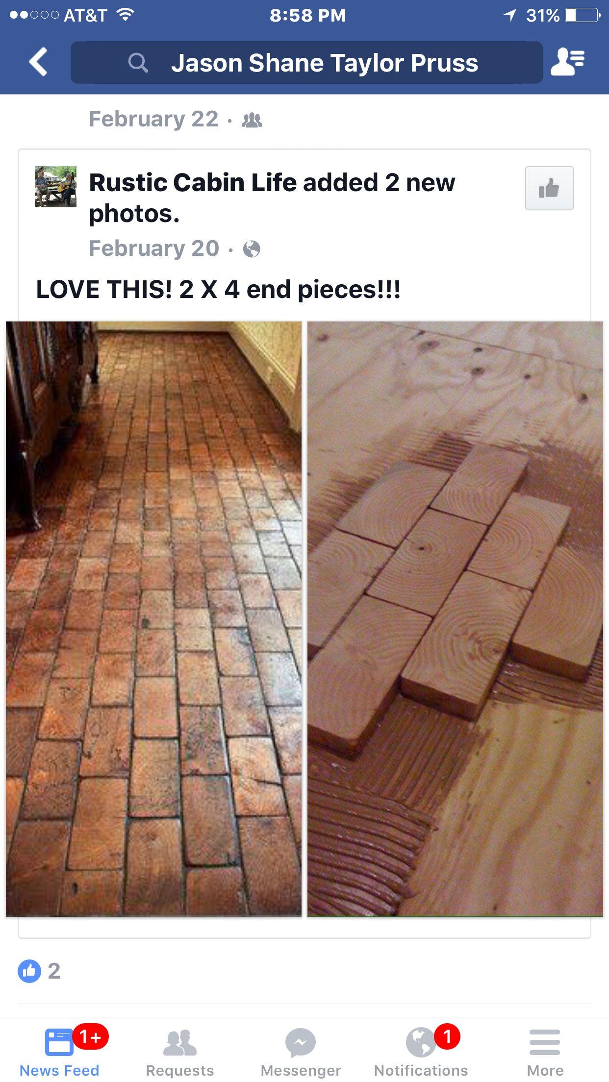 2x4 End Pieces To Create A Floor Flooring Bruce Hardwood Floors Hardwood Floor Cleaner