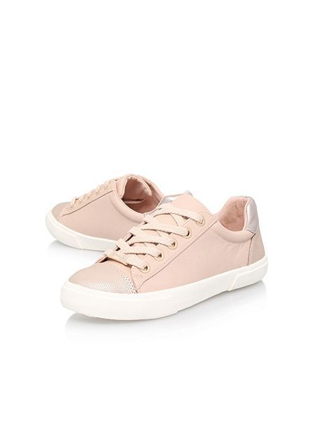 Carvella blush Light lace up trainers