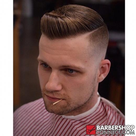 Haircut Medium Skin Fade Hard Part Haircut Skin Fade Comb Over