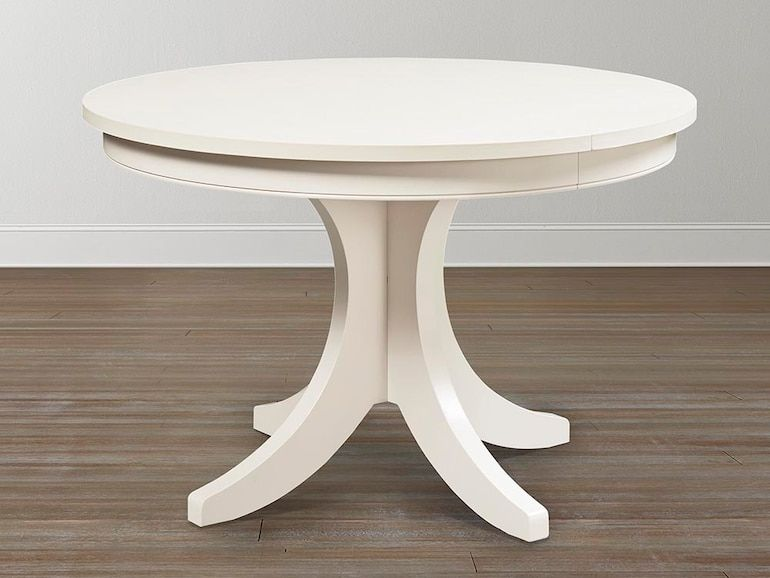 Custom Dining 54 Round Pedestal Table In 2020 Pedestal Table