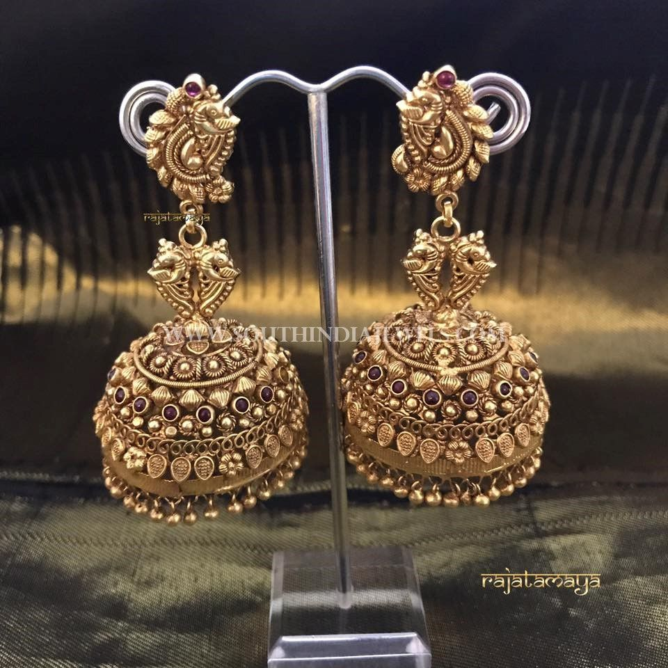 Gold Plated Pure Silver Jhumka Design | Gold, Antique coins and ...