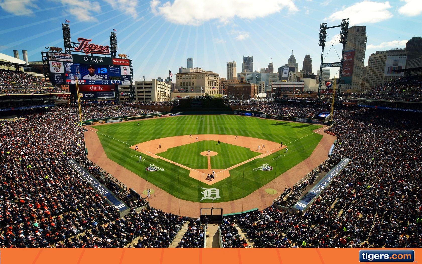 Comerica Park Wallpaper Wallpapers Detroit Tigers Baseball