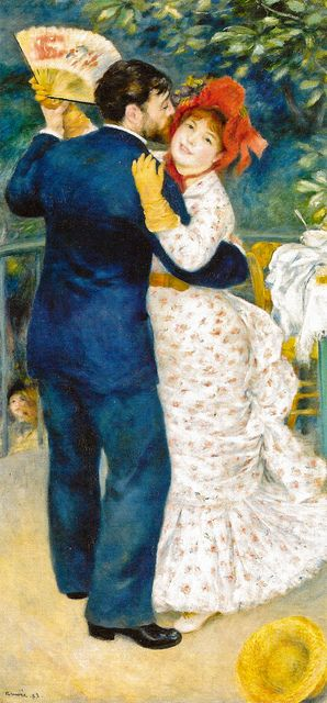 Pierre Auguste Renoir - Dance in the Country, 1883 at Musée dOrsay Paris France