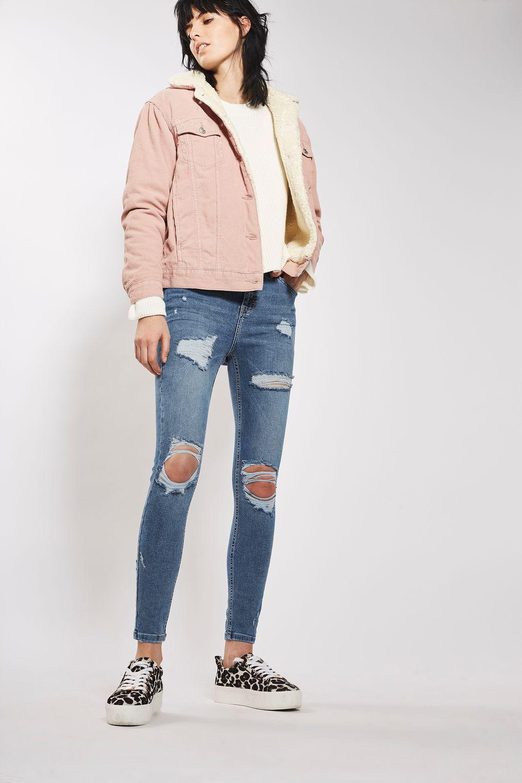 e9d1b8ca725 MOTO Blue Super Rip Jamie Jeans - Topshop | Outfits SS 2017 | Jeans ...