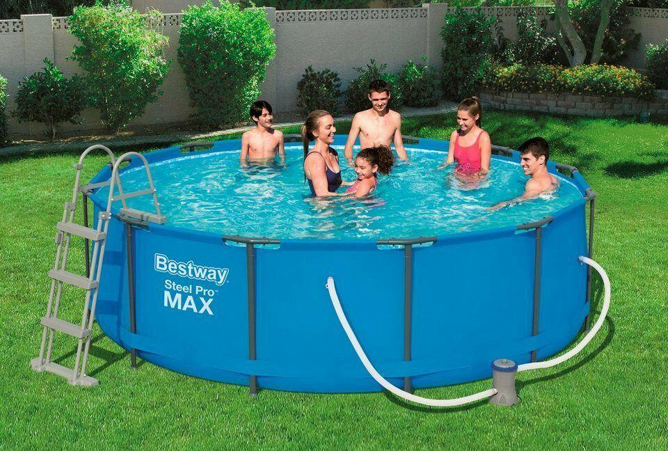 Bestway Steel Pro Max 366x100 Cm Frame Pool Mit Filterpumpe 56418 Gunstig Kaufen Ebay Pool Sonnendach Stahlrahmen Pool