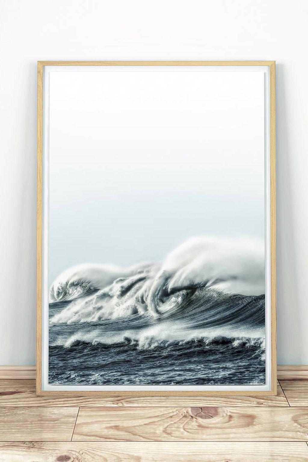 Ocean Waves Printable Wall Art Sea Print Sea Wave Wall Etsy Ocean Wall Art Photography Wall Art Sea Wall Art