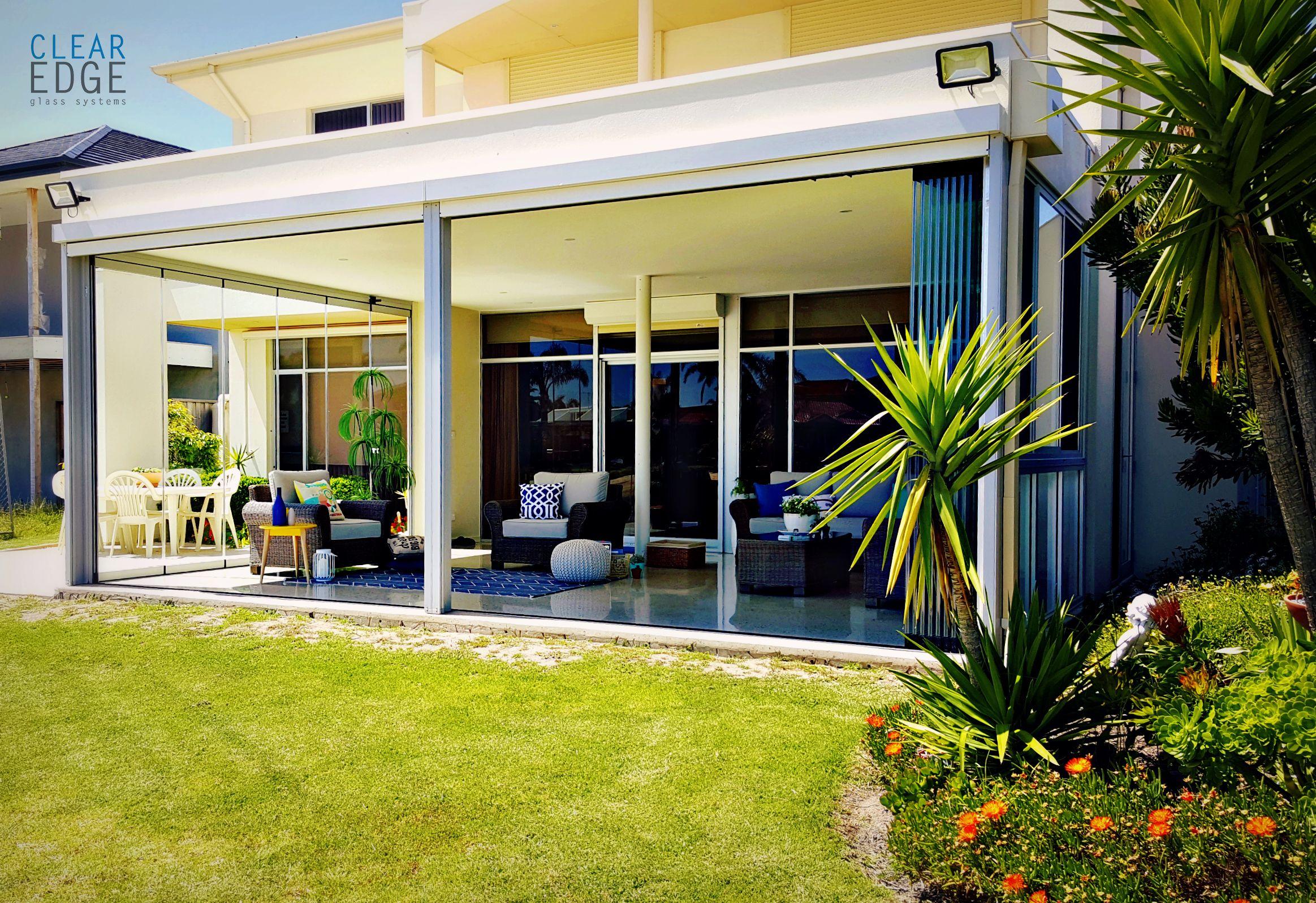 Clear Edge Glass Sunroom Glass Sliding Door Indoor Outdoor