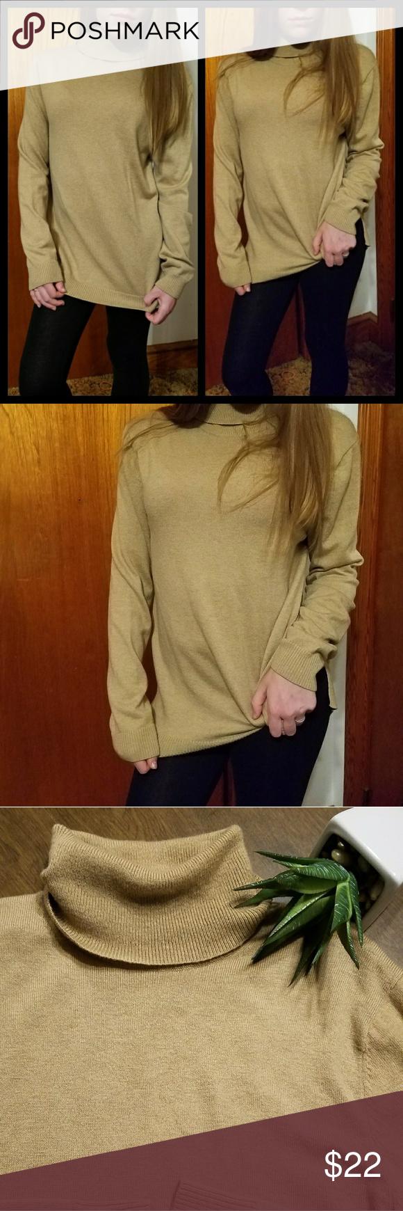Light tan comfy turtleneck Gap sweater | Fall nights, Conditioning ...
