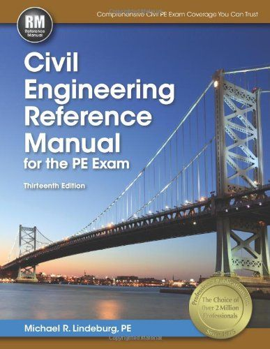 Civil Engineering Reference Manual For The Pe Exam Civil Engineering Civil Engineering Books Engineering Exam