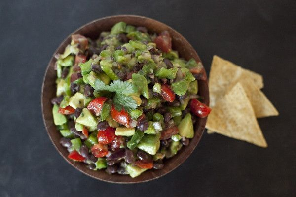 Fresh Tomato and Avocado Salsa. Snacks for your Super Bowl Party | EatingRichly.com