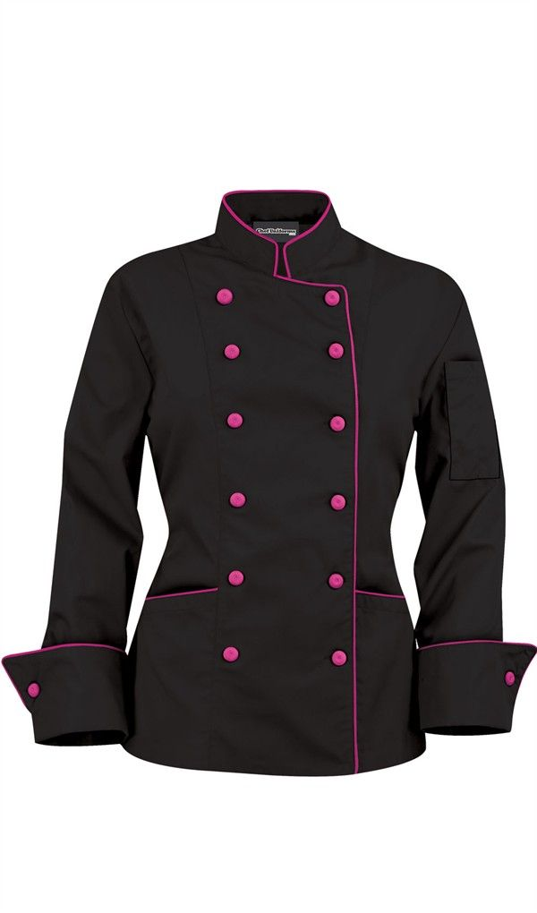 Women S Traditional Chef Coats Contrast Piping Fabric