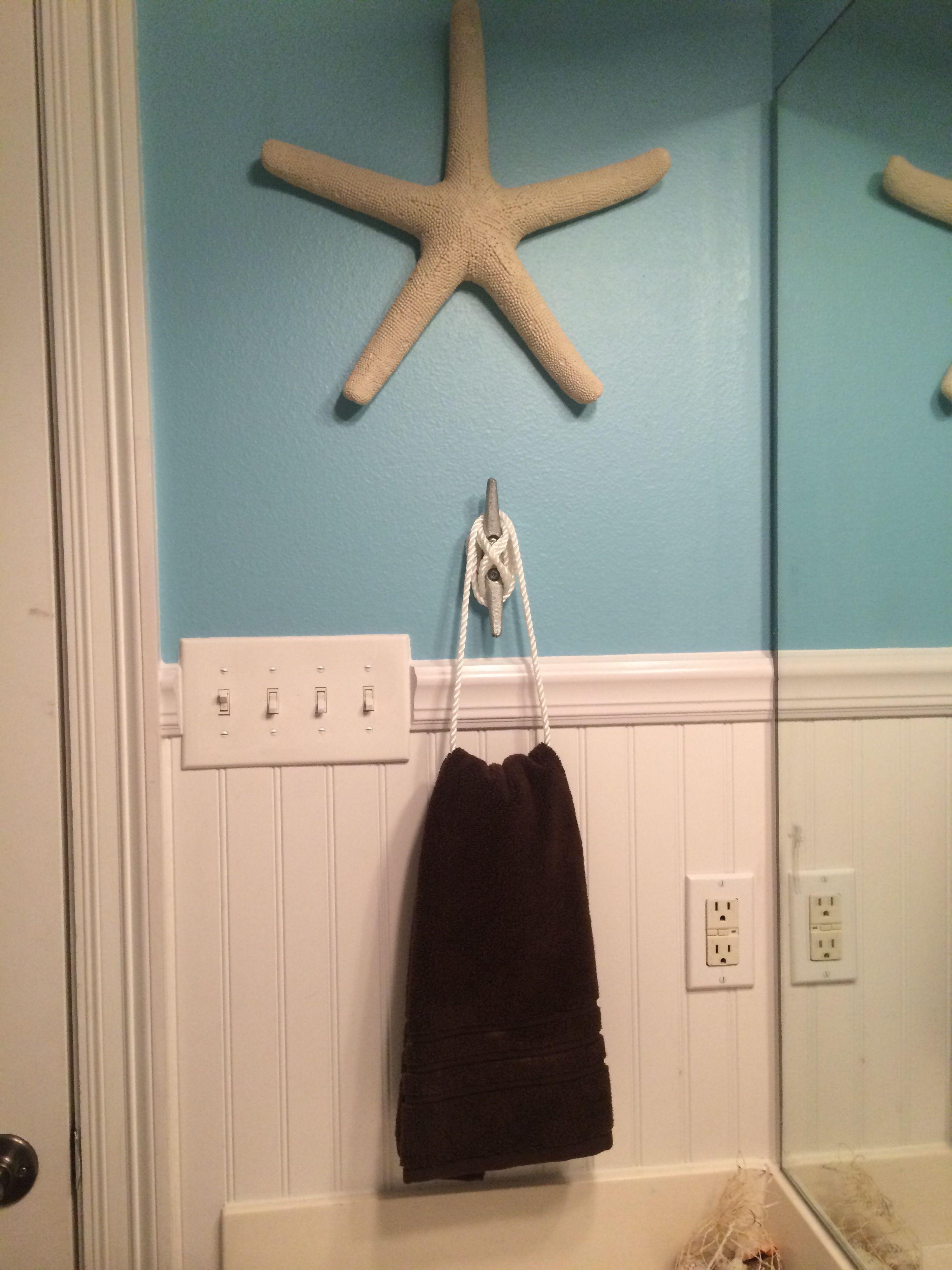 Nautical Or Beach Themed Bathroom Hand Towel Holder I Can Be