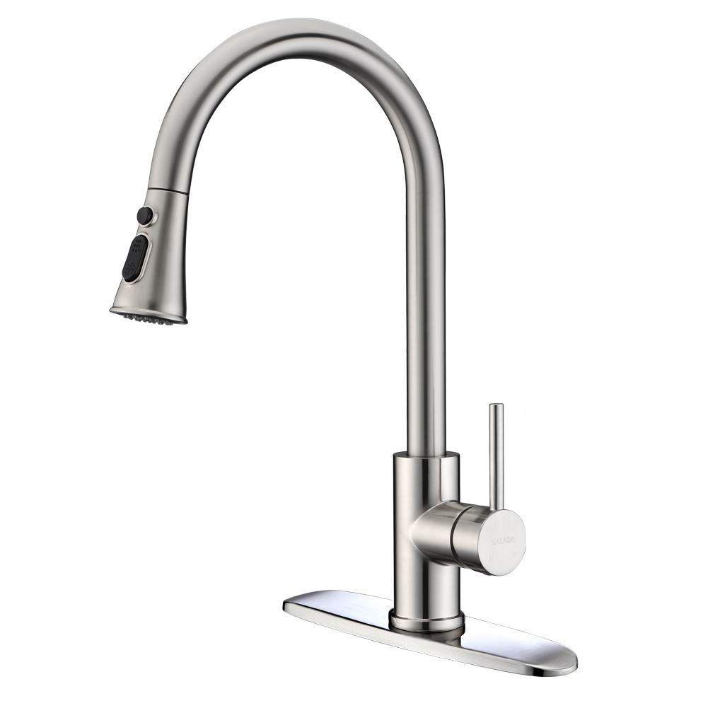 Lazada Kitchen Faucet Commercial Lead Free Single Lever Handle