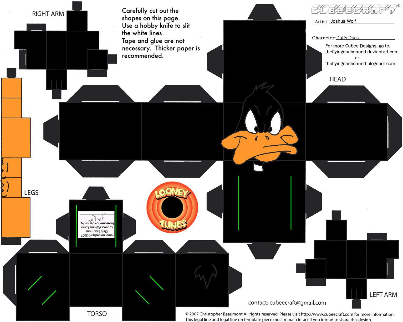 PaperToy_WB - Daffy Duck