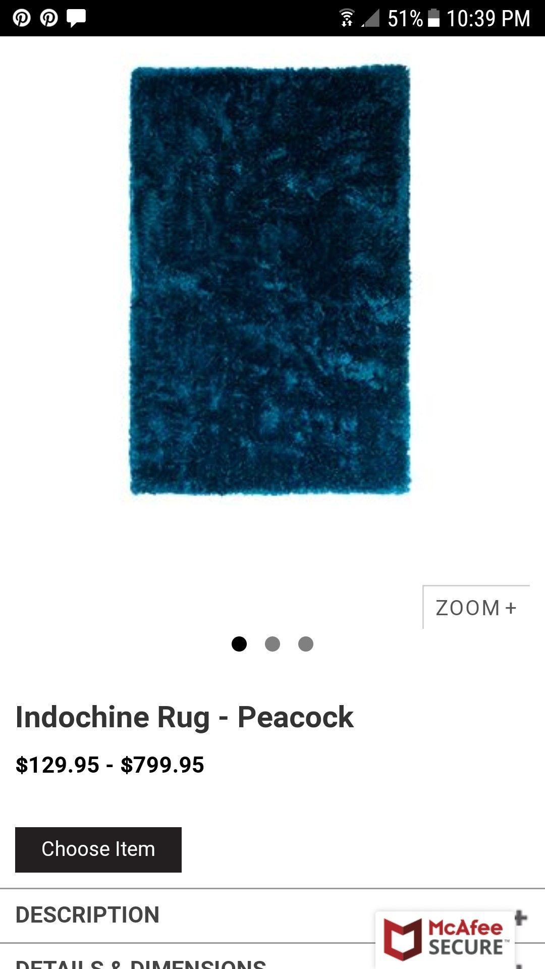 Z Gallerie Peacock Indochine Rug With Images Z
