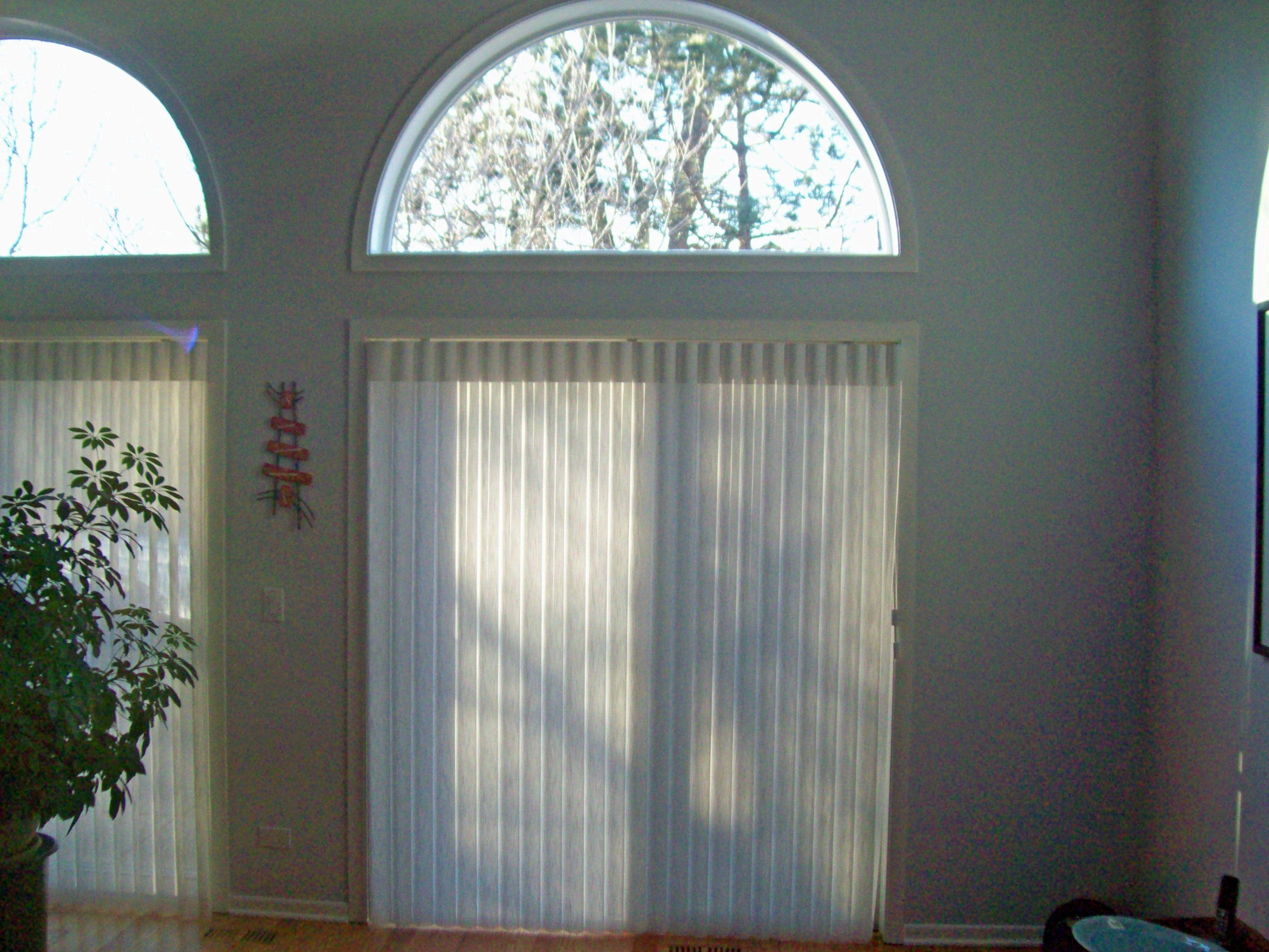 Inside mount window treatments - Inside Mount Luminette On Sliding Glass Door