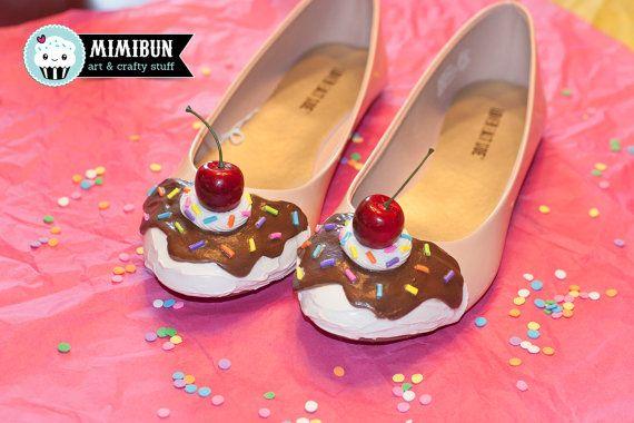d2fd5f0d2b Ice Cream Shoes Cake Shoes Ice Cream Flats by mimibun on Etsy ...