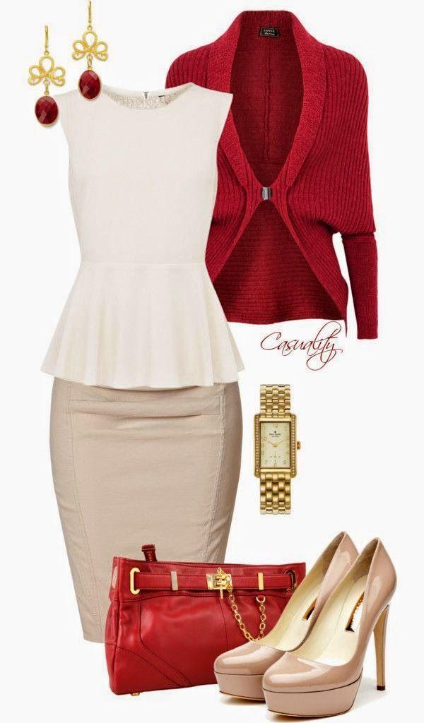 Estilo peplum: hace que la cintura se vea mas delgada, Ideal para mujeres de cintura ancha, mas un cinturon en contraste para dar la ilusión de una cintura mas delgada.