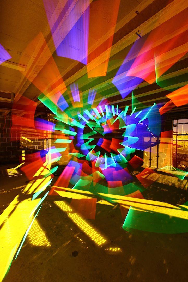 Colorful Light Art Created Using No Digital Manipulation #lightartinstallation