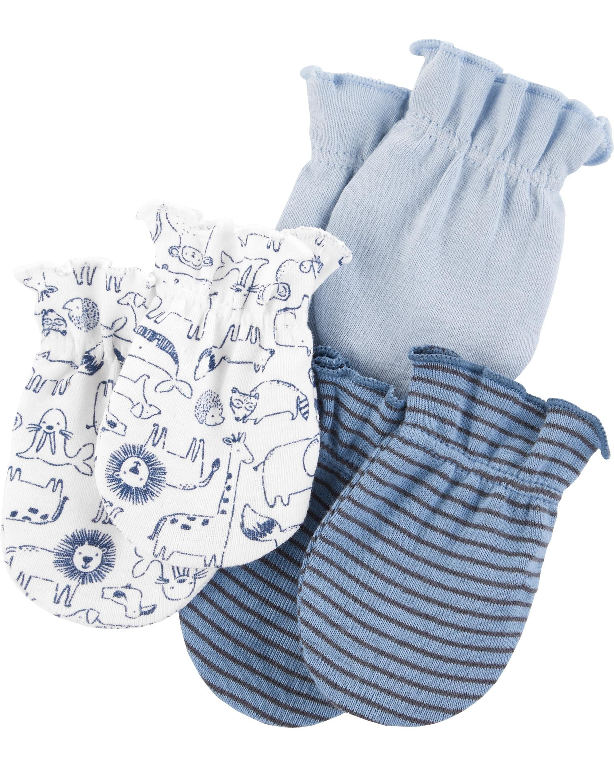 3 Pack Mittens Baby Boy Accessories Carters Baby Carters Baby Boys
