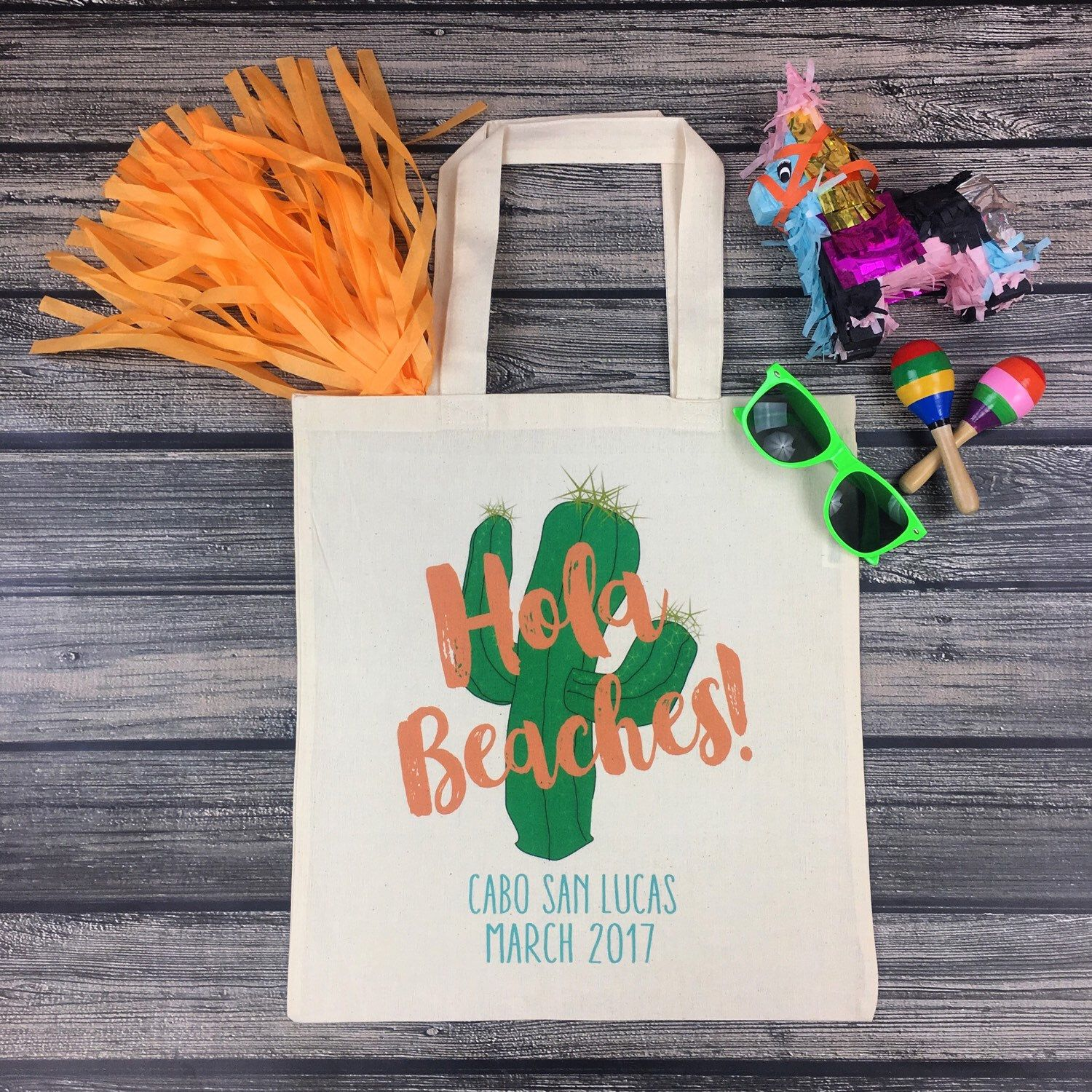 Your wedding bags for a grand getaway today s destination wedding - These Fun Festive Hola Beaches Tote Bags Are Off To Mexico They Re The Perfect Favor For Any Bachelorette Party Or Wedding In Mexico