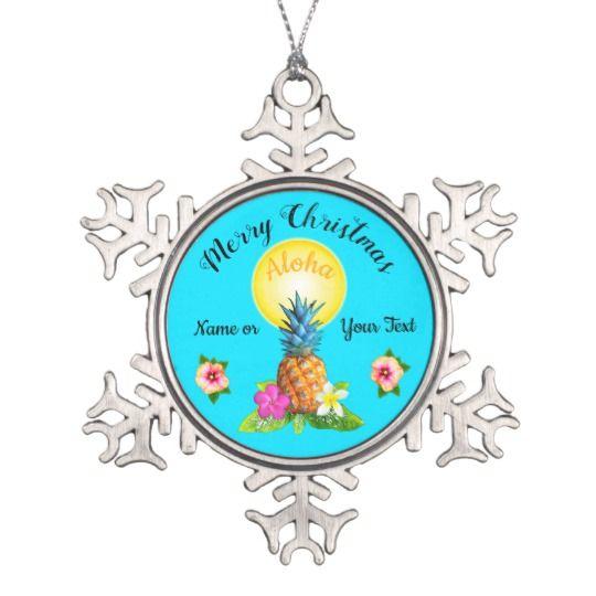 Stunning Hawaiian Christmas Ornaments PERSONALIZED ...