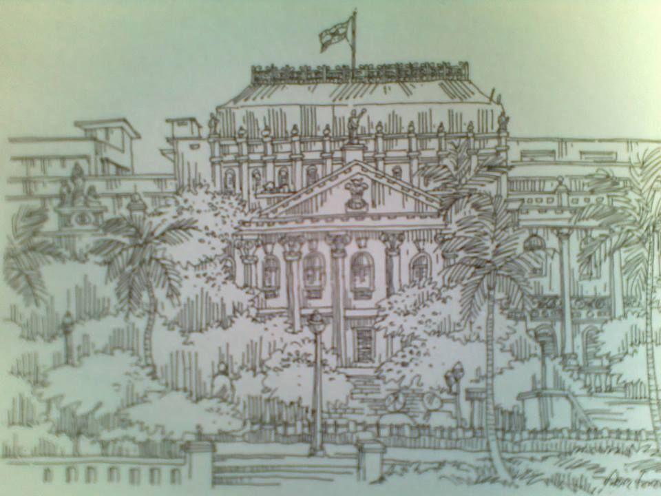 A sketch of writers building