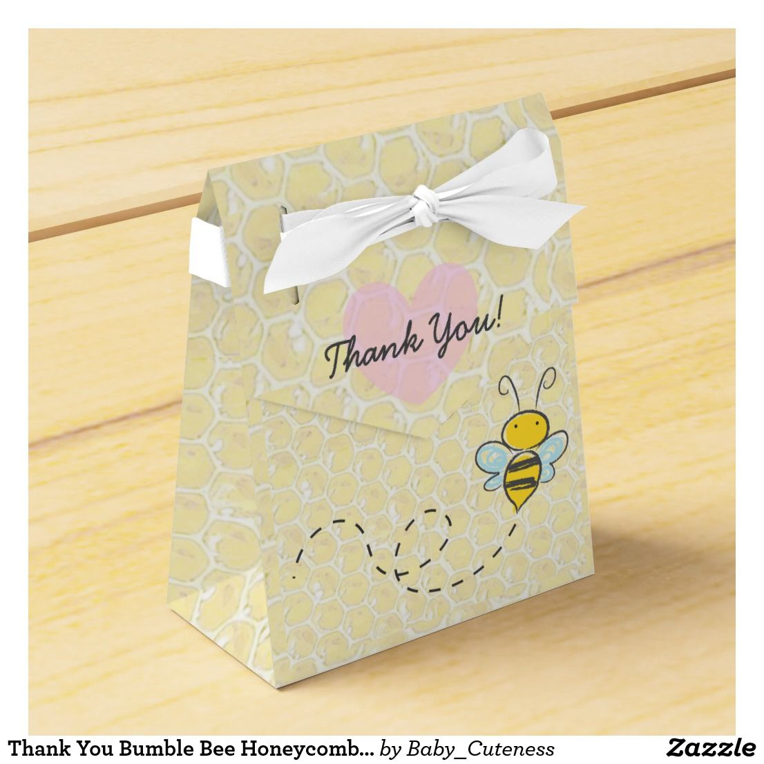 Thank You Bumble Bee Honeycomb Candy Favor Box | Candy favors