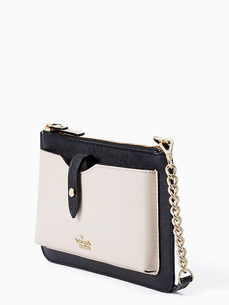 new concept de1d8 3f9bf Kate Spade Iphone Crossbody, Black/Tusk   Products in 2019 ...