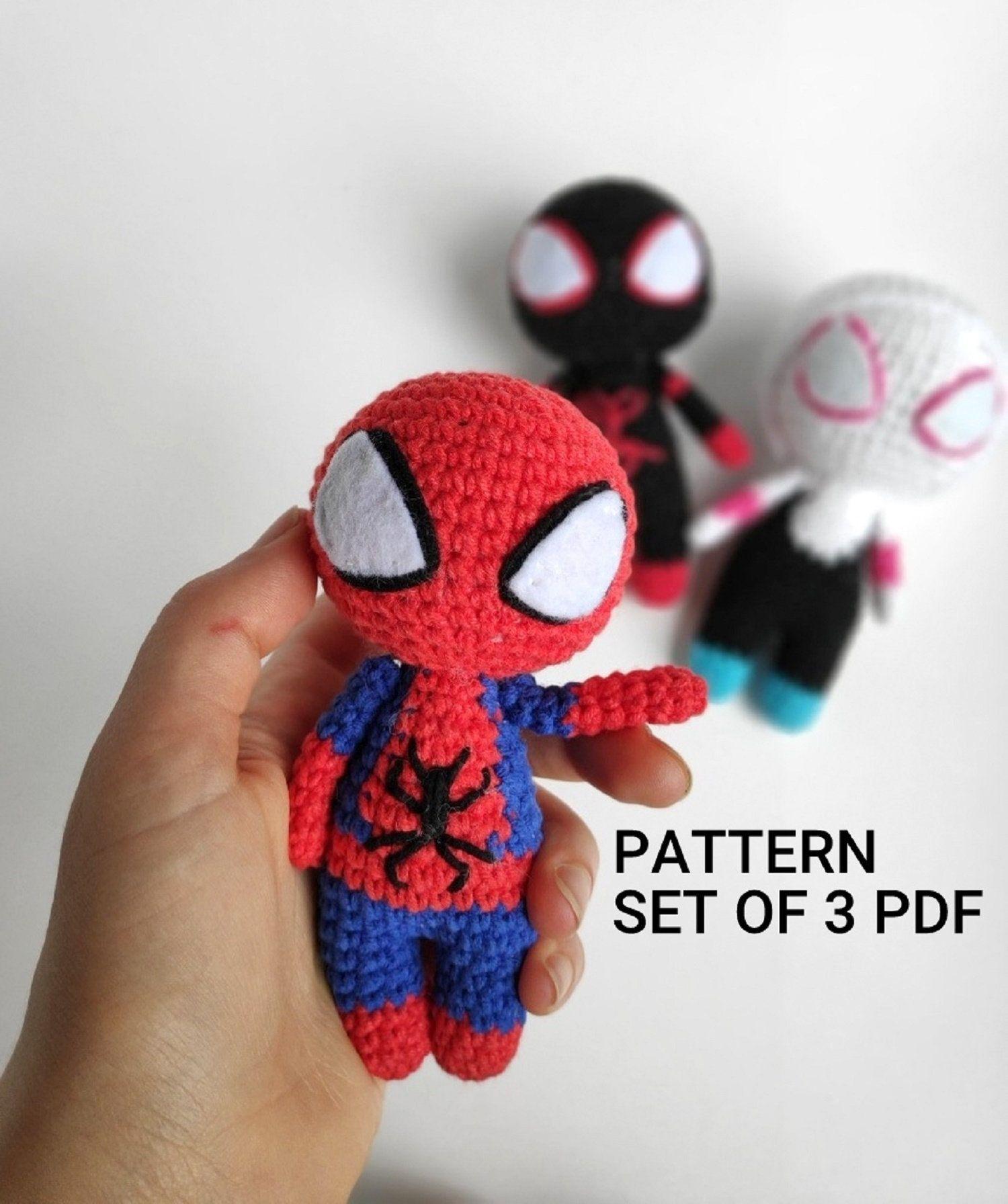 Spiderman Crochet Pattern - Amigurumi Doll Tutorial - Crochet News | 1792x1500