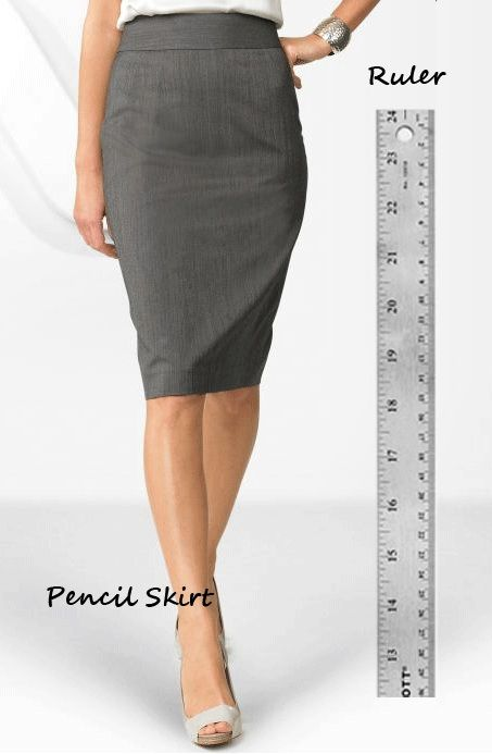 Ordinaire The Pencil Skirt Finds Inspiration From The Ruler. Both Are Straight And  Practical. The